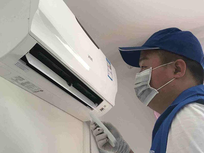 空調檢修現場