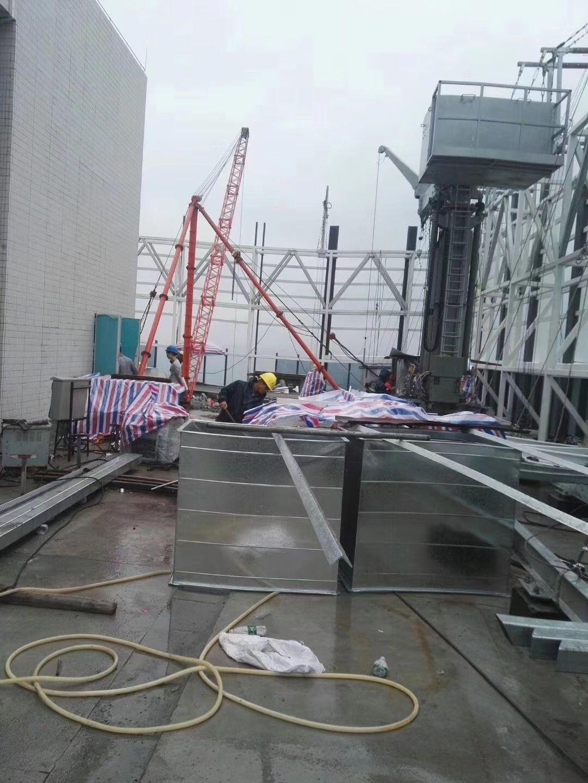 空调设备吊装现场