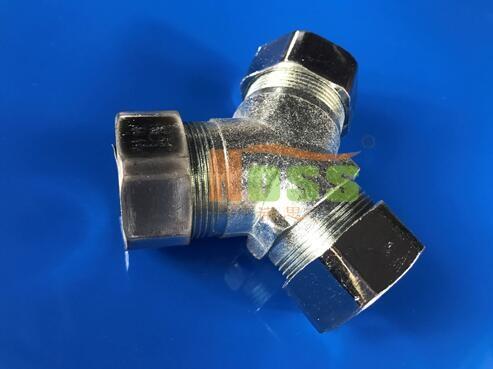 三通金属软管接头,紧固件WH05