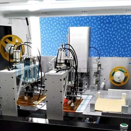 全自动冲贴式胶纸机系统