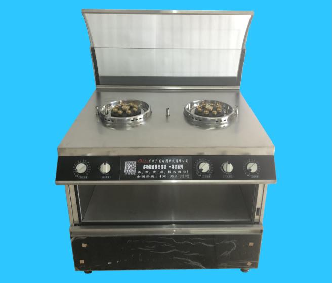 商用款  加强版(双炉双转) 自动烹饪机  1913#