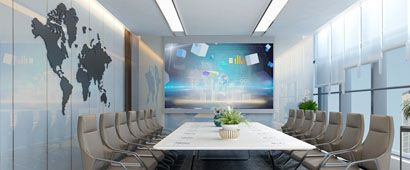 廣州啟明星裝修公司辦公室會議室裝修案例圖片