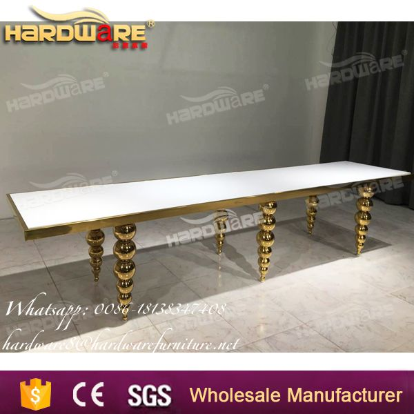 stainless steel designs gold wedding banquet dining table
