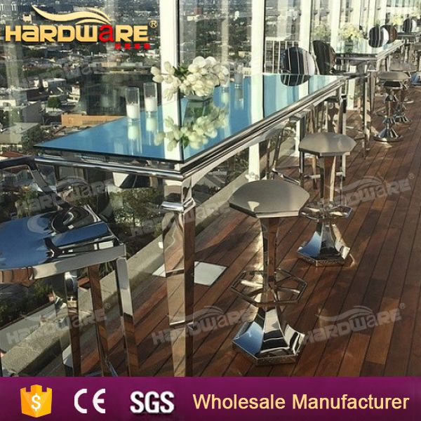 wholesale stainless steel legs cocktail bar tables