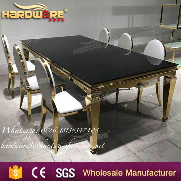 new model royal wedding glass dining table design