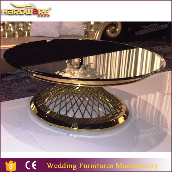 foshan china mirrored round dining table for wedding