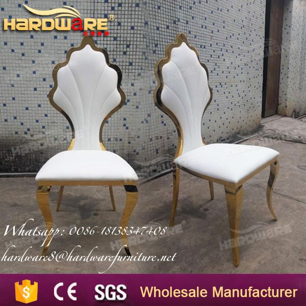 manufactures upholstered stainless steel wedding dining chairs