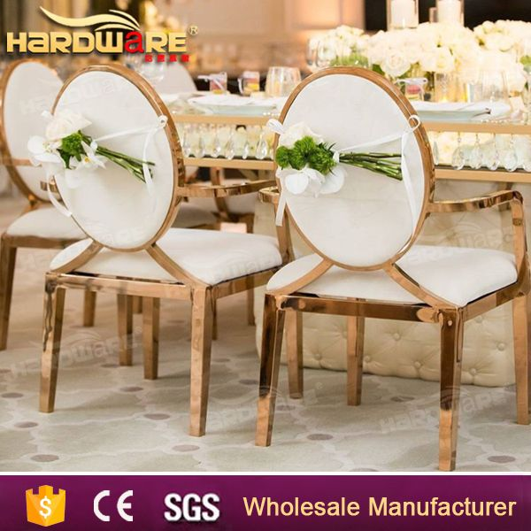 modern new design metal steel wedding ceremony banquet chair