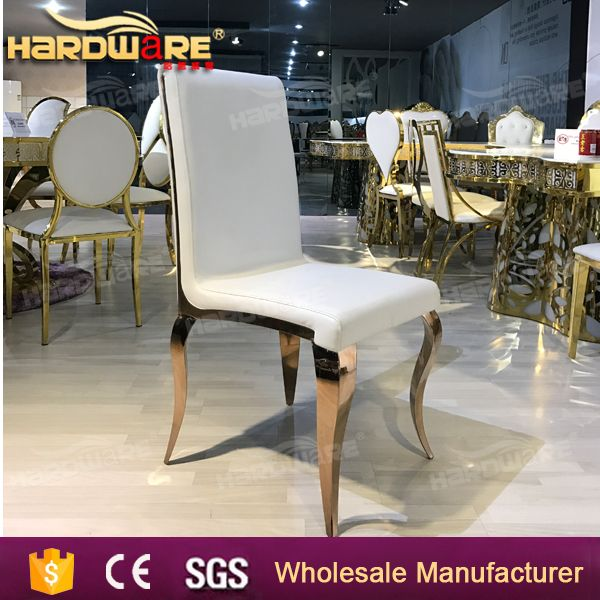 rose metal gold styling stainless steel wedding chair foshan furniture
