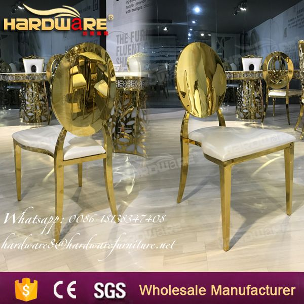 modern wholesale gold stainless steel dining chair