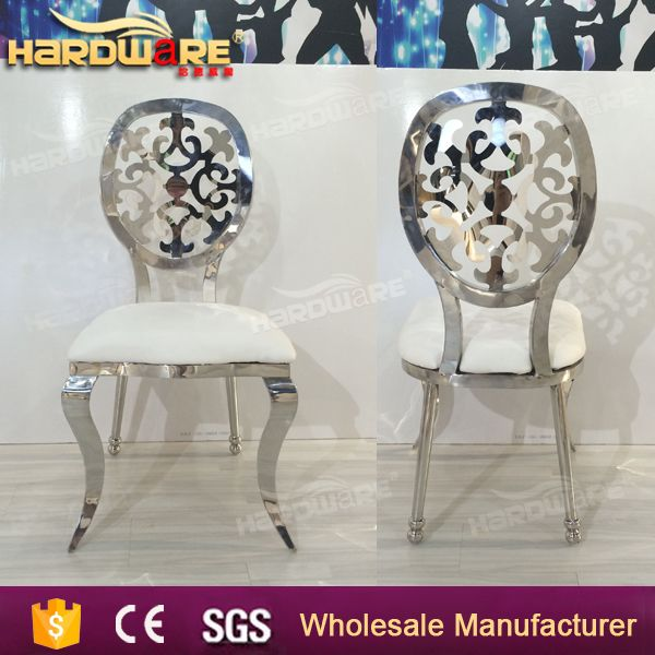 fancy dubai stainless steel chairs for wedding and event