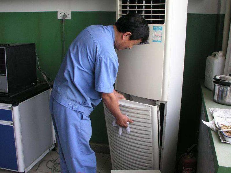 立式空调保养清洁