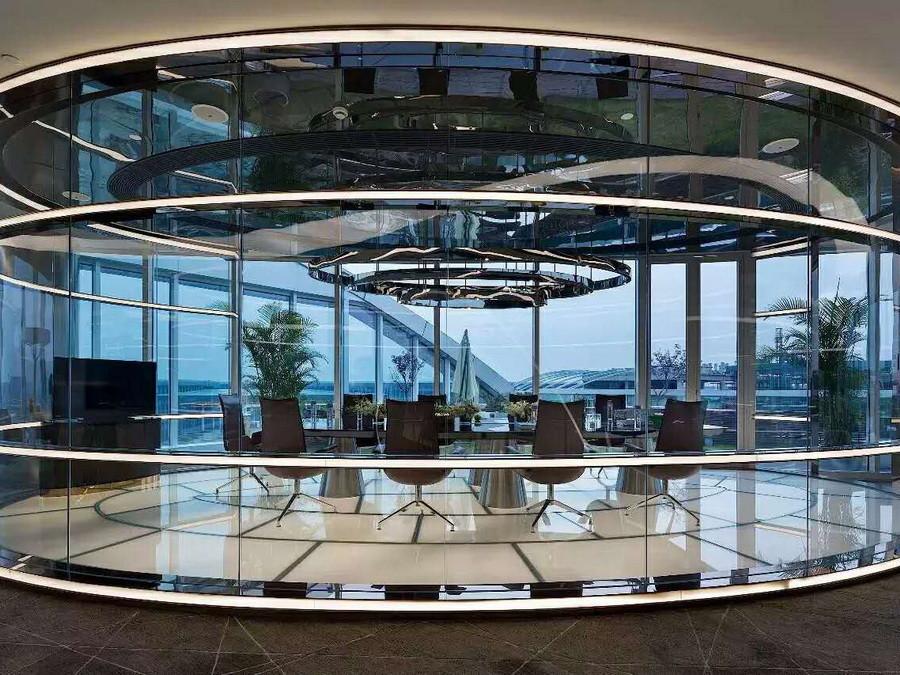 办公室玻璃墙定制安装