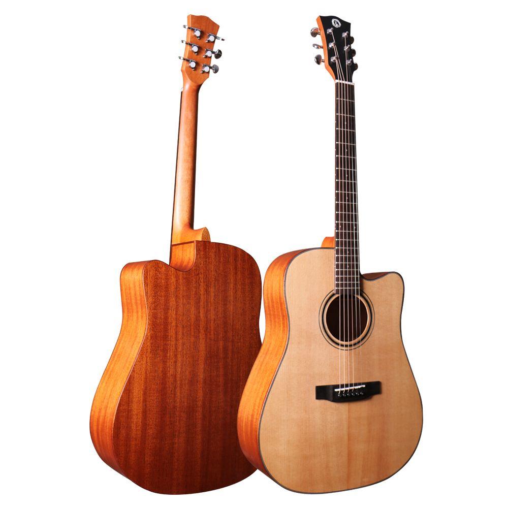 FG-D82C 41 inch spruce mahogany cutaway guitar