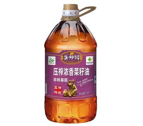 压榨浓香菜籽油5L